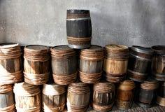 barrels gammalt trä Fotografering för Bildbyråer