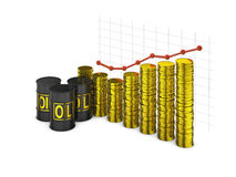 Barrels and  graph Stock Image
