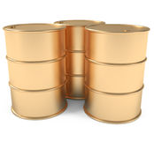 barrels guld vektor illustrationer