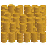 barrels guld- royaltyfri illustrationer