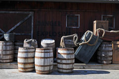 Barrels of gun powder Stock Photos