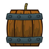 Barrels with gunpowder isolated illustration Royalty Free Stock Photos