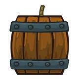 Barrels with gunpowder isolated illustration. On white background Royalty Free Stock Photos