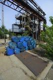 Barrels of hazardous substances royalty free stock photography