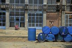 Barrels of hazardous substances royalty free stock images