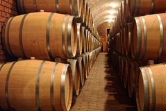 Free Barrels In A Cellar Stock Image - 35553951