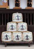 Barrels of japanese sake Stock Photos