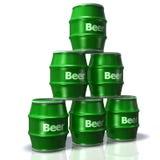 barrels la bière Photos libres de droits