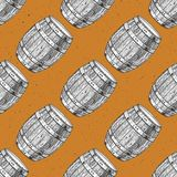 Barrels le fond sans couture Photo libre de droits