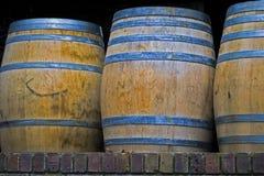 barrels le vin de chêne Photos libres de droits