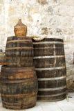 barrels oaken Arkivbild