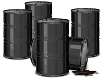 Barrels with oil Stock Images