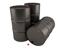 Barrels of oil. On white background. 3D render clipart Stock Image