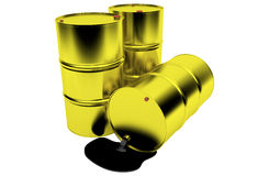 Barrels of oil Stock Photo