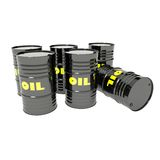 Barrels of oil Stock Photography