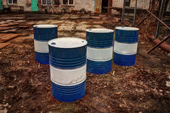 Barrels for oil products. Royalty Free Stock Image