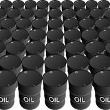 Barrels of oil products Stock Image