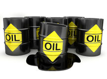 Barrels of Oil Royalty Free Stock Photo