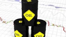 Barrels of oil on the stock market. 47.  stock illustration