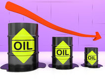 Barrels of oil Stock Images