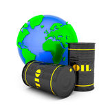 Barrels of oil Royalty Free Stock Photography