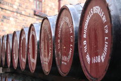 Barrels at Old Bushmills Distillery Royalty Free Stock Photos