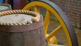 Barrels on old wagon. royalty free stock photography