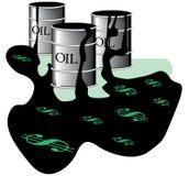 barrels oljespill Royaltyfri Bild