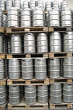 Barrels at an open storage Stock Photo