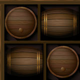 Barrels_pattern Royalty Free Stock Photo