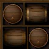 Barrels_pattern Foto de Stock Royalty Free