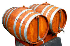 Barrels with pipes Royalty Free Stock Images