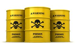 Barrels with poisonous substance Stock Images