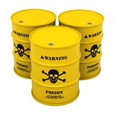 Barrels with poisonous substance Stock Photography