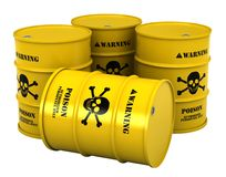 Barrels with poisonous substance Royalty Free Stock Images
