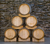 Barrels in a pyramid Royalty Free Stock Photography