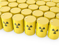 Barrels with radioactive symbol Royalty Free Stock Images
