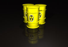 Barrels with radioactive waste Stock Images
