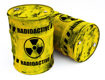 barrels radioaktivt Arkivfoto