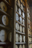 Barrels in RIk House at Woodford Reserve Royalty Free Stock Photos
