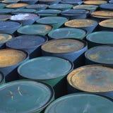 barrels rostigt Arkivbilder