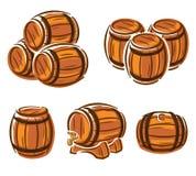 Barrels set. Vector Stock Photography