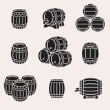 Barrels set. Vector stock illustration