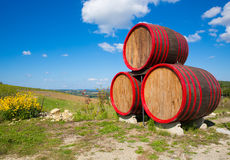 Barrels sign near winehouse. At Greve in Chianti, Tuscany, Italy Royalty Free Stock Photo