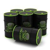 Barrels for storage of hazardous substances royalty free illustration