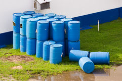 Barrels or tanks of waste Stock Photos