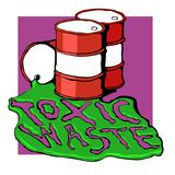 Barrels of toxic waste Royalty Free Stock Image