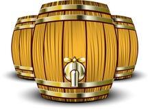 barrels trä vektor illustrationer