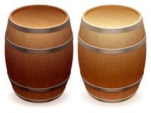 barrels trä Arkivfoto