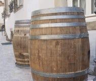 barrels trä Arkivbilder